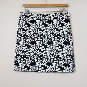 NWT Ann Taylor LOFT Floral Vine Print Skirt